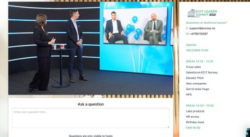 Profesjonalitet i alle ledd: Proviso hjelper ECIT-konsernet med digitale arrangementer