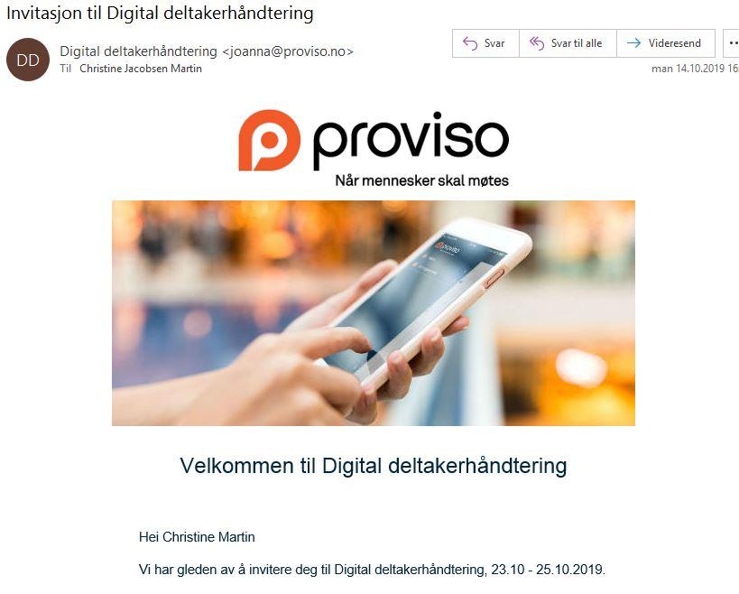 digital invitasjon
